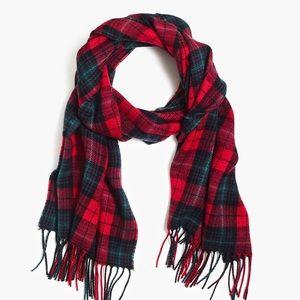 Men's J CREW acrylic plaid scarf